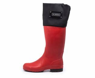 Rubber, rubber boot, high, red