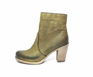 B QUEEN BOROVO, WOMEN'S ANKLE BOOTS, GREEN