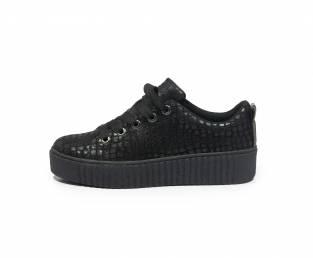 Women's sneaker, black, patterned