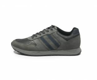 Men's sneaker, gray, with blue detail