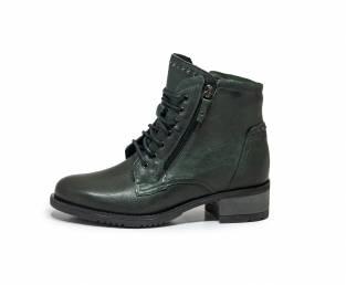 Women's ankle boots, dark green