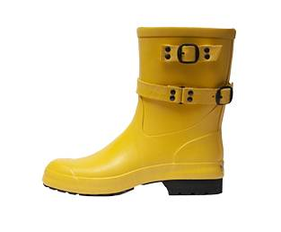 RUBBER LOW RUBBER BOOT, YELLOW