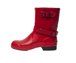 RUBBER LOW RUBBER BOOT, RED