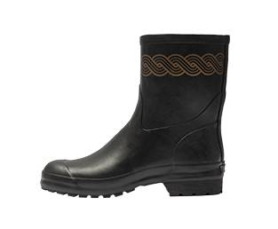 RUBBER LOW RUBBER BOOT, PLETER, BLACK