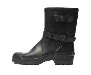 RUBBER LOW RUBBER BOOT, BLACK