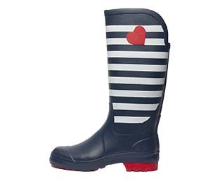Rubber, rubber boot, high, blue-white